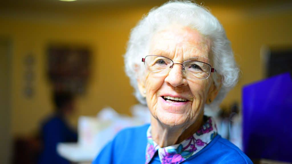 Elder Lady with Dentures